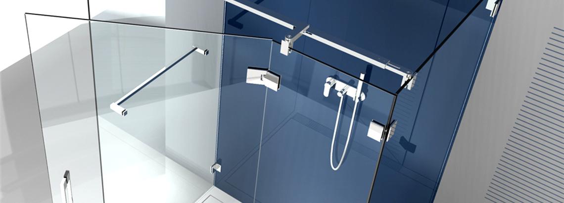 Badezimmer durch Glastechnik