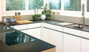 Küchenabdeckung und Küchenrückwand Glas
