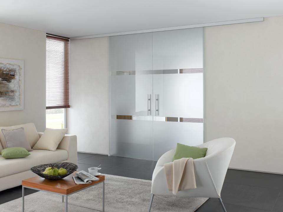 Glastür & Trennwand aus Glas