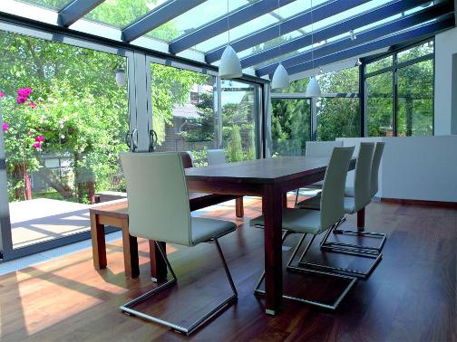 Sitzplatzverglasung als Wohnraum