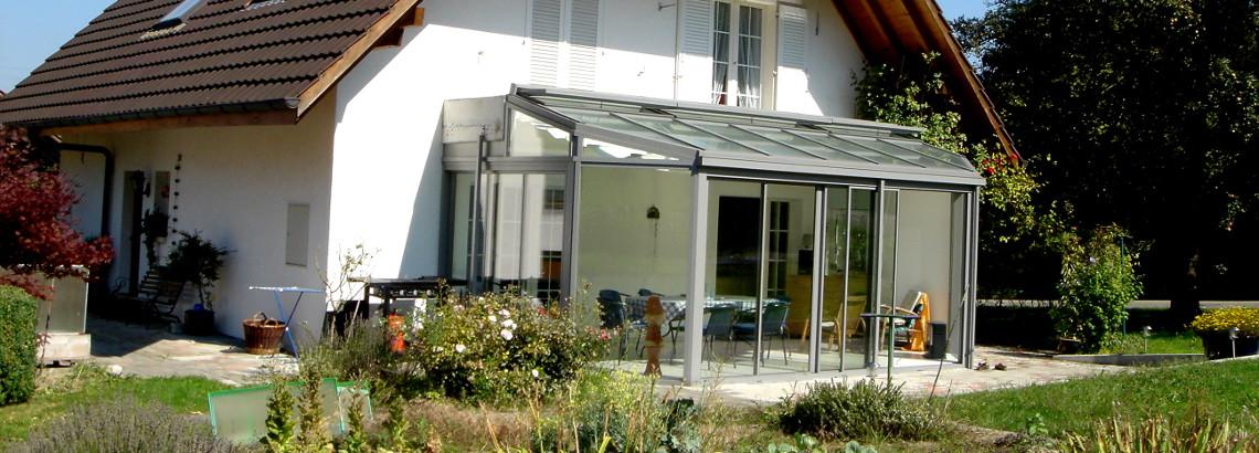 sitzplatzverglasung und Witnergarten