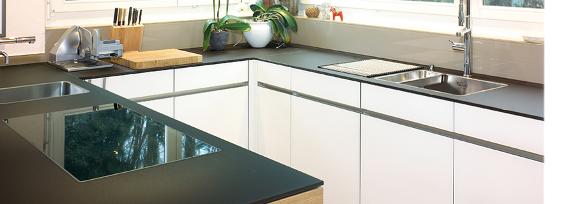 Küchenabdeckung aus kratzfestem Glas