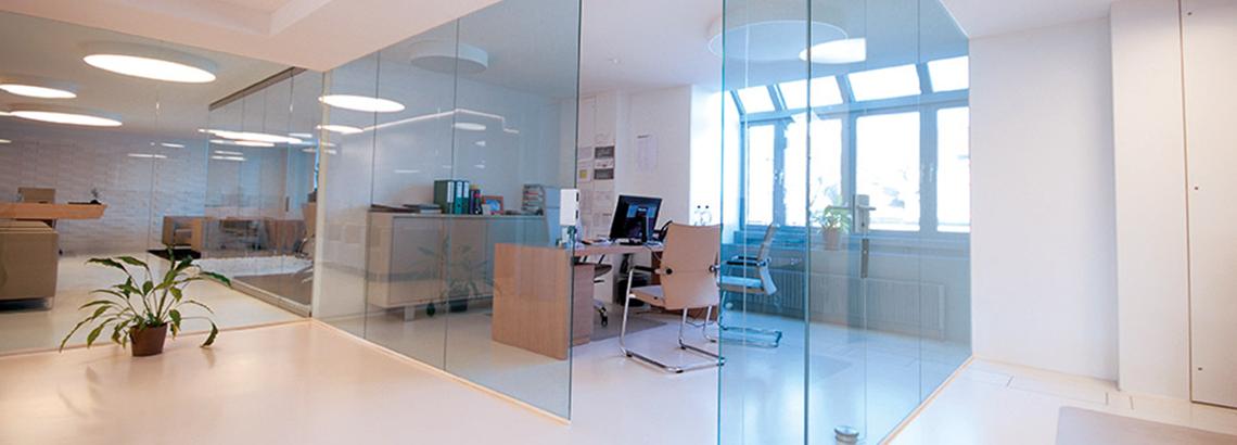 Wohnen und Büro mit Glastechnik