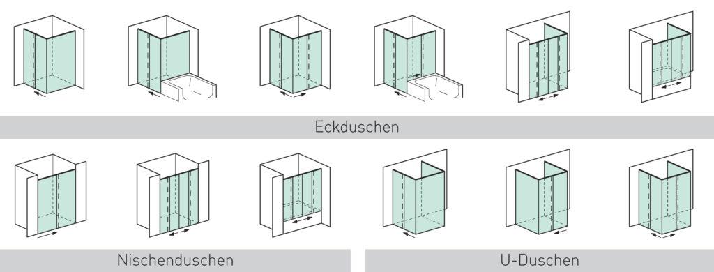 Duschen Schiebetürsystem